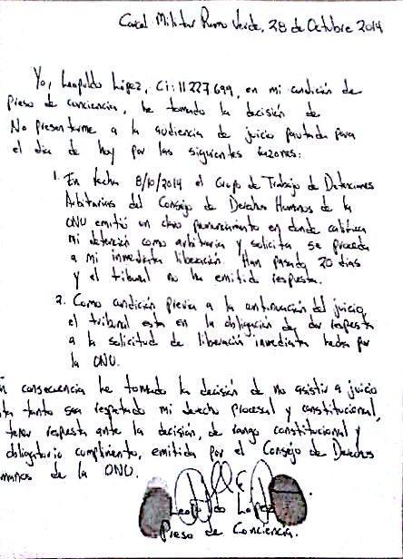 Carta LL 28O